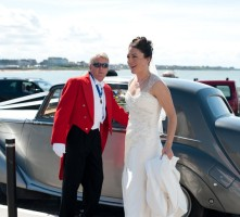 Your Toastmaster assisiting bride at Turner Contemporary
