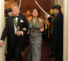 Receiving line at Mandarin Oriental Confrerie du Sabre D'or