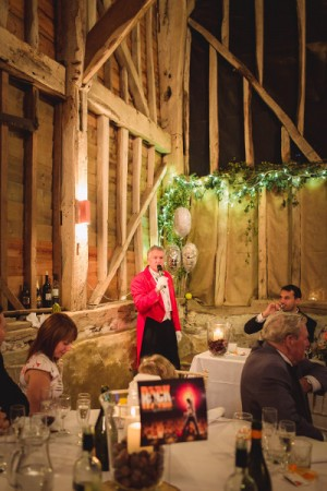 We were delighted to have been asked to be wedding toastmasters for Steve and Lou at Rolvenden Great Barn