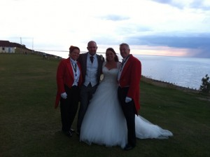 We thoroughly enjoyed being toastmasters for Amy & Steve on the 22nd August 2014 at Whitstable Castle & the Marine Hotel