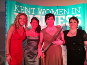 Hilary Steel opened the Kent Women in Business awards 2014 by sabraging a bottle of champagne