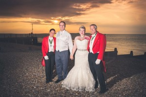 The sun shone on the 7th August 2014 at East Quay for the wedding of Jess & James ... we were delighted they chose us to be their wedding toastmasters